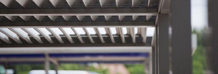 toit de terrasse à lames
