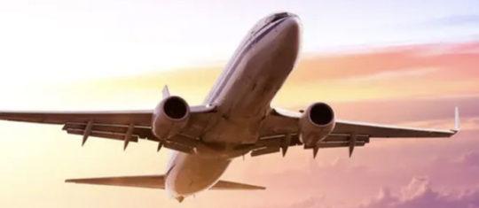 Photo montrant le décollage d'un avion